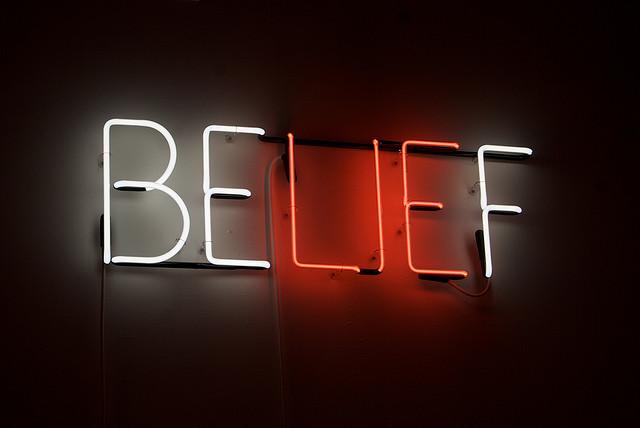 Belief-neon-sign