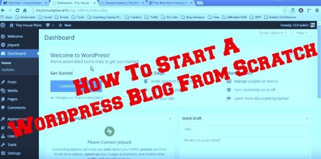 How to start a wordpress blog pic